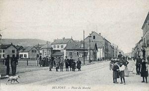 CPA Belfort Place du Marché 1903-10