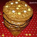 Biscuits aux flocons d'avoine, avec ou sans chocolat