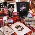 Séance aquarelle: la pose du chat!
