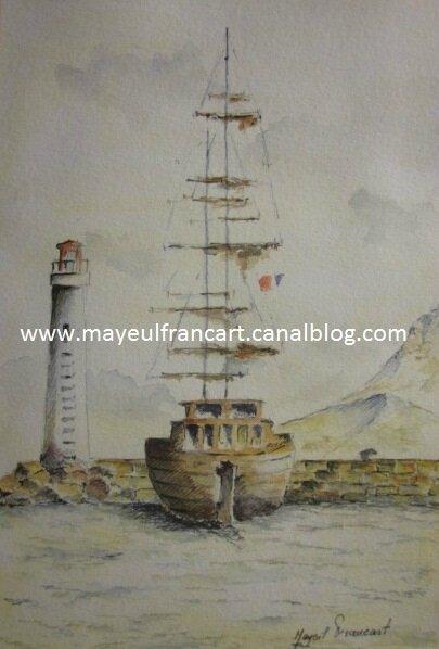Le voilier et le phare