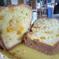Cake abricot sec, pâte d'amande, amaretto
