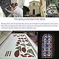 Restauration vitraux Sète