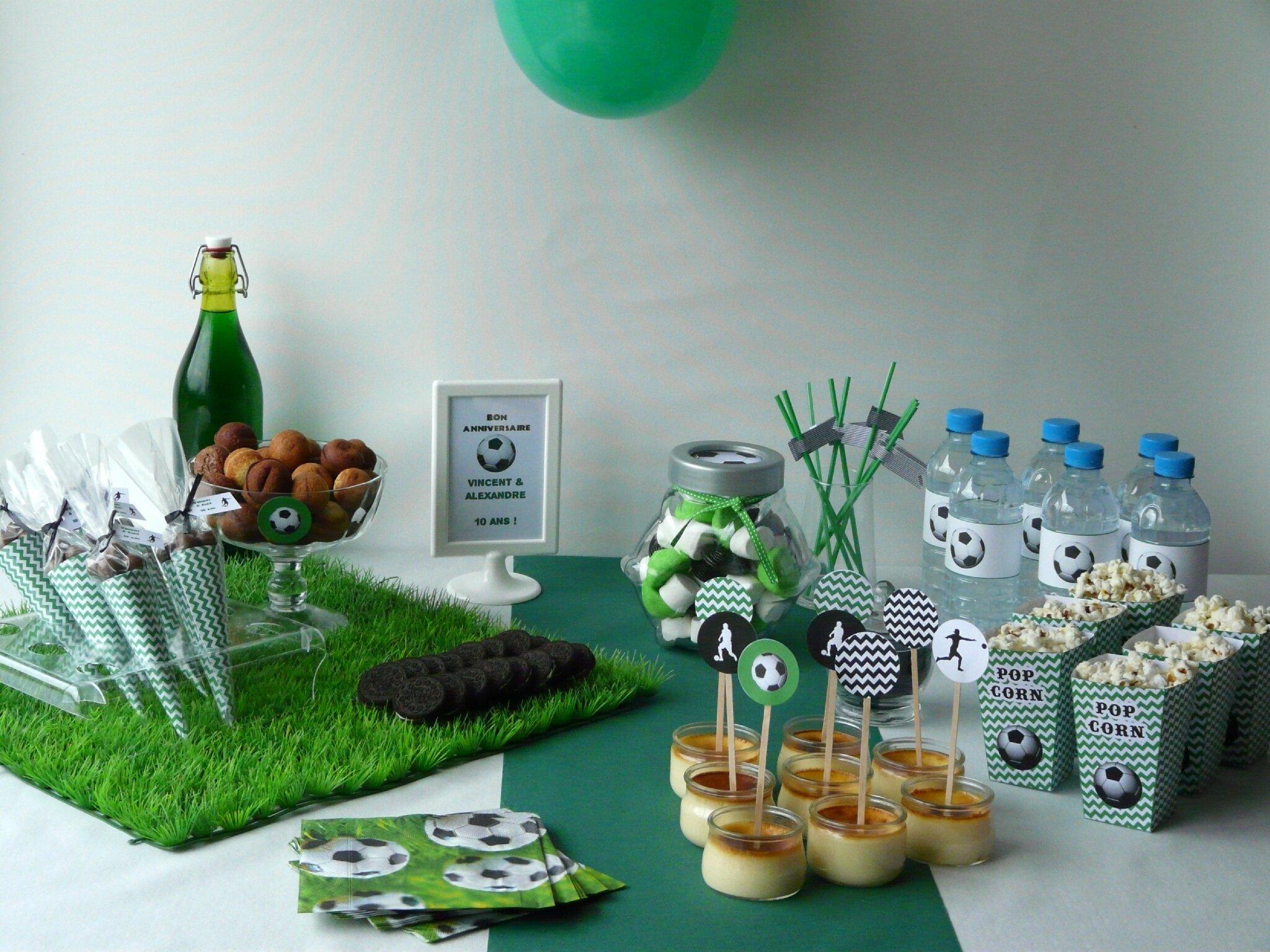 Deco anniversaire foot id e inspirante pour la conception de la maison - Decoration anniversaire football ...