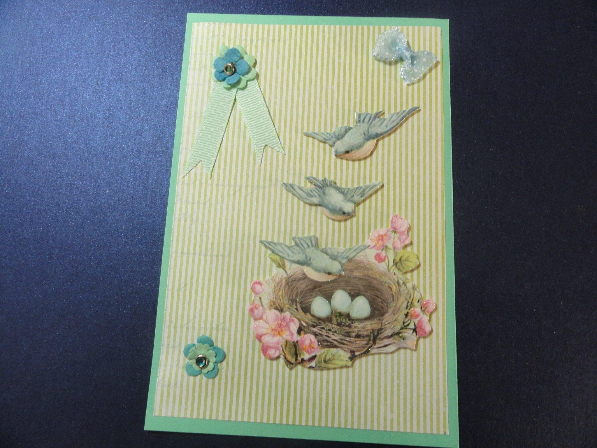 cartes roses et vert shabby 005