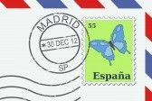 19109251-letter-from-spain--postage-stamp-and-post-mark-from-madrid-spanish-mail