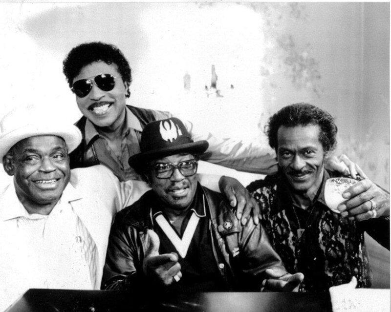 Willie Dixon, Little Richard, Bo Diddley, Chuck Berry 1986