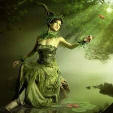 femme verte
