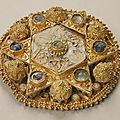 Brooch, ottonian, made in probably northern italy, ca. 970–1030