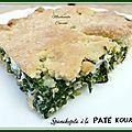 Spanakopita à la pâte kourou
