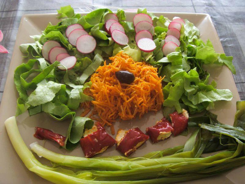 Une belle assiette de crudit s recettes de mamieconte - Entree crudites originale ...