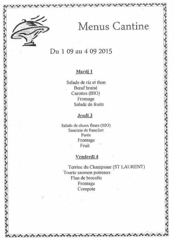 menu semaine 36