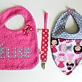 Kit cadeau de naissance fille personnalisé Princesses Elise