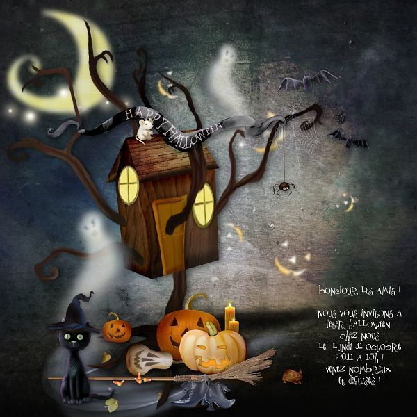 1110 - happy halloween invitation