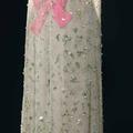 Cristóbal Balenciaga, robe du soir en soie ivoire et tulle vert pâle brodé, 1966