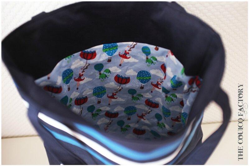 Intérieur sac marin