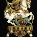 Pendant with st. george, 16th century
