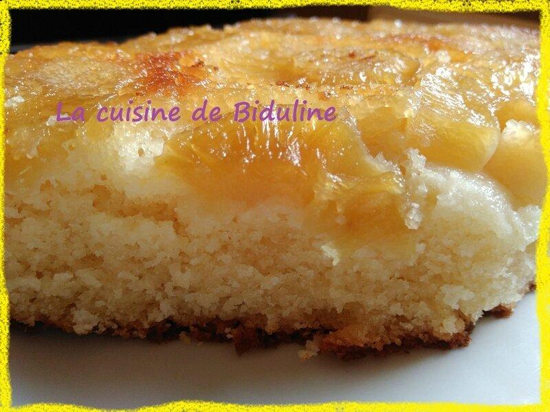 Mon gâteau renversé à l'ananas et noix de coco - La cuisine de Biduline