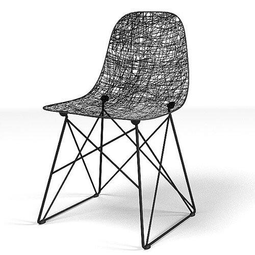 sièges-de-dentelle-noire-carbon-chair-Bertjan-Pot-Marcel-Wanders