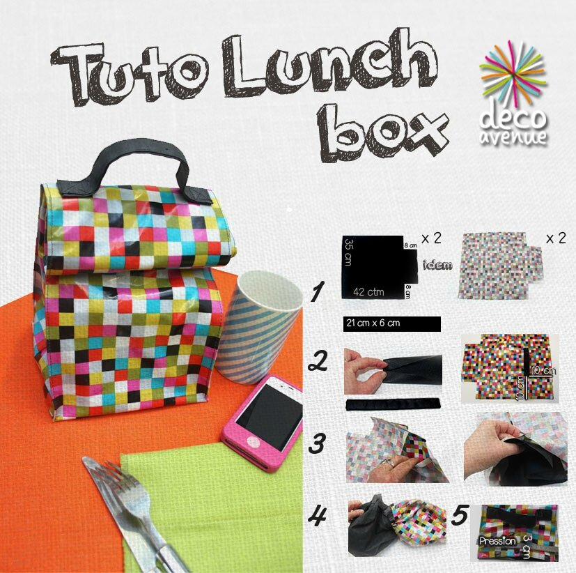 tuto couture lunch box. Black Bedroom Furniture Sets. Home Design Ideas