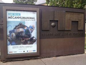 Mécanhumanimal Enki Bilal, affiche de l'exposition