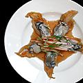 Salade aux huitres crues : kimchi instantané