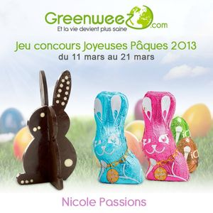 jeu concours Nicole Passion Greenweez paques 2013