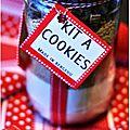 ☆ calendrier de l'avent : 1 cadeau gourmand par jour ☆ jour 13 : kit à cookies bio et bons