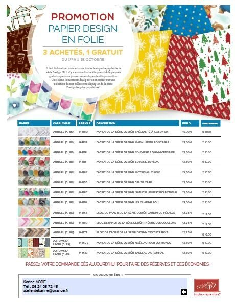 Flyer promotion Papier Design en folie