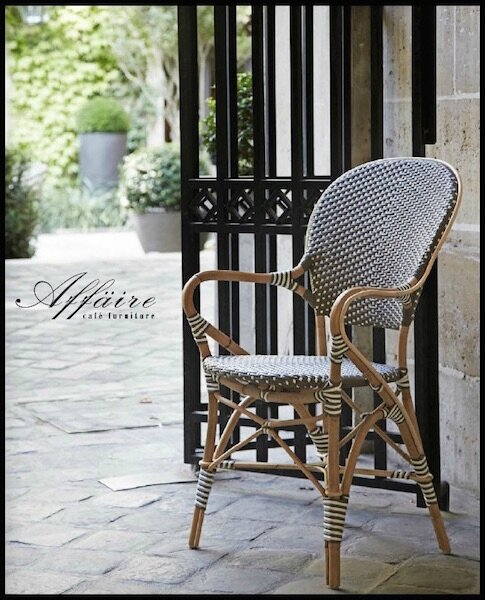 Chaise bistrot rotin table bistrot rotin collection - Chaises de bistrot en rotin ...