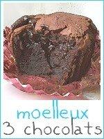 gâteau fondant aux 3 chocolats - index