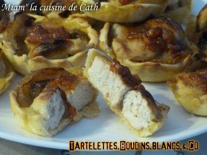 """ღ """" MIAM """" Tartelettes Boudins blancs & Compagnie .."""
