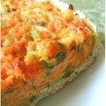 Tarte salée aux carottes, oignons, persil, cumin, moutarde et parmesan