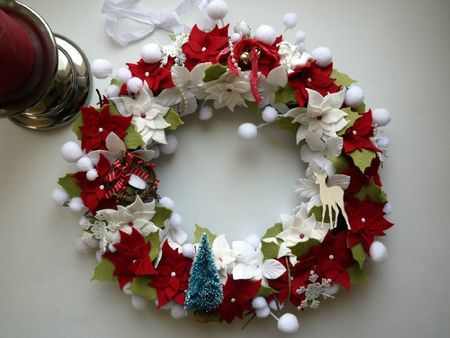 Couronne de no l le scrap de carol - Couronne centre de table noel ...