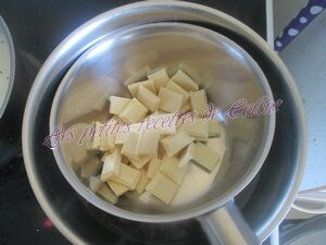 Flan chocolat blanc et pommes15