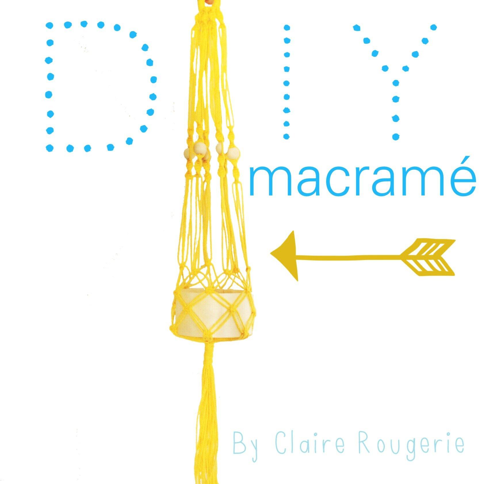 Diy sunny macram de beaux souvenirs - Fil pour macrame suspension ...