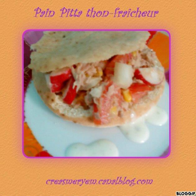 """Pain pitta """"thon fraicheur"""""""