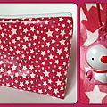 Trousse de toilette étoilée rose et blanche