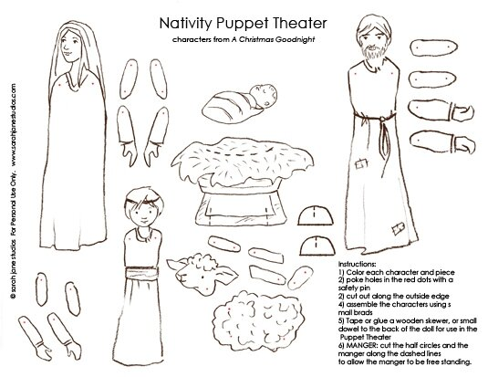 Nativity Free Patterns Coloring Pages