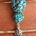 perles turquoises