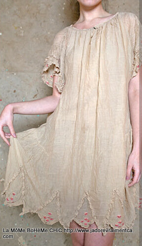 4-MP Cotton silk Tilly dress with button fron, hand stitched embroidery, lace, Papyrus.jpg