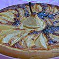Tarte aux poires & cannelle