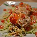 Salade de crabe royal kosjka à l'essence de grenade