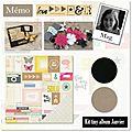 Kit tiny album du mois de janvier, mag