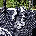 Panier noir et blanc (détail)