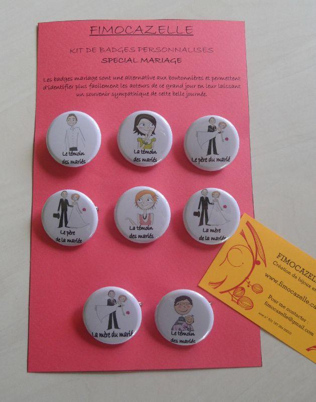 kit badges mariage - Badges Personnaliss Mariage