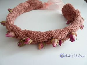 dawanda headband rose lin naturel image 2