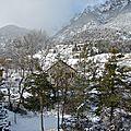 Les montagnes ont vétu leur manteau blanc