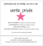 invitation vente privée 29 avril 2012
