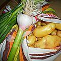 Pommes de terre, ail, oignons