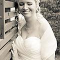Parure de bijoux mariage fin et romantique